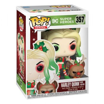 Funko Pop! Vinyl DC Comics Holiday Harley Quinn with Helper Figure - Pre-Order
